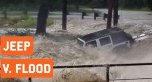 Jeep Swept Away By Flash Flood